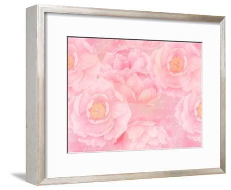 Soft Pink Rose Watercolor-Lebens Art-Framed Art Print