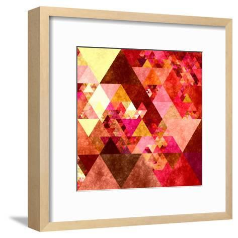 Triangles Abstract Pattern -Square 12-Grab My Art-Framed Art Print