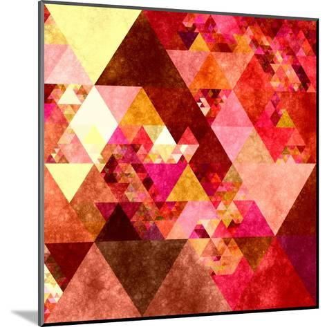 Triangles Abstract Pattern -Square 12-Grab My Art-Mounted Art Print
