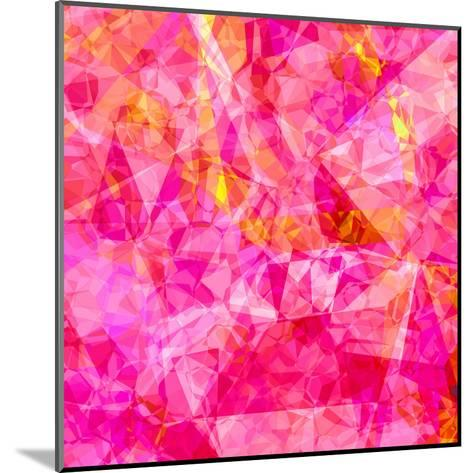 Triangles Abstract Pattern - Square 27-Grab My Art-Mounted Art Print