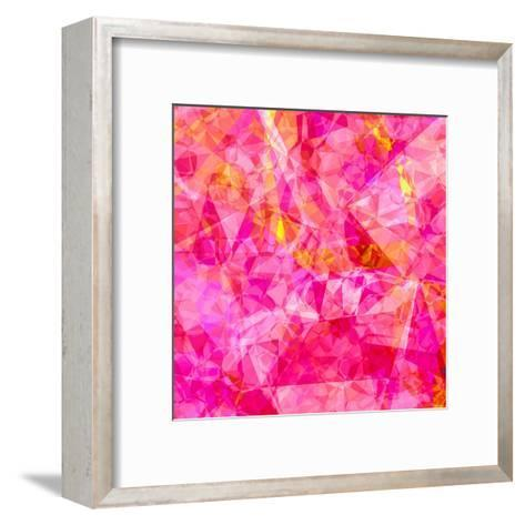 Triangles Abstract Pattern - Square 27-Grab My Art-Framed Art Print