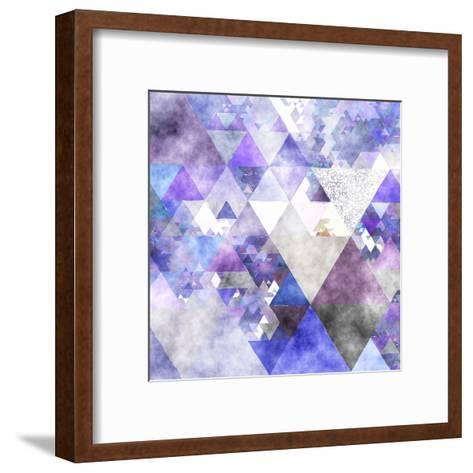 Triangles Abstract Pattern -Square 17-Grab My Art-Framed Art Print