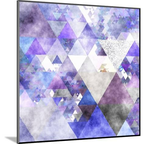 Triangles Abstract Pattern -Square 17-Grab My Art-Mounted Art Print