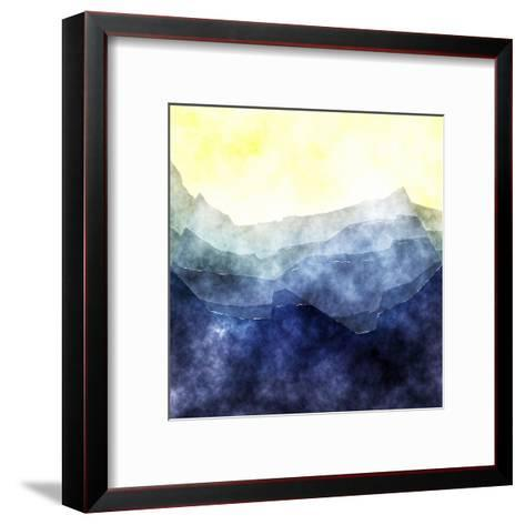 Triangles Abstract Pattern- Square 2-Grab My Art-Framed Art Print
