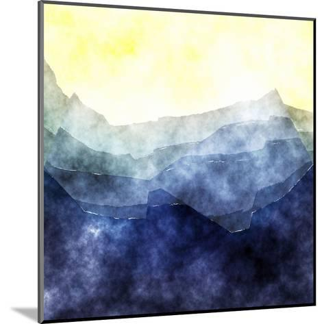 Triangles Abstract Pattern- Square 2-Grab My Art-Mounted Art Print