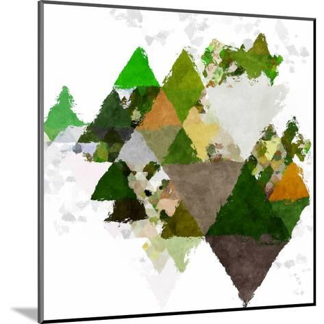 Triangles Abstract Pattern -Square 20-Grab My Art-Mounted Art Print