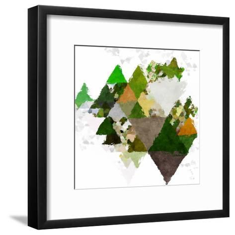 Triangles Abstract Pattern -Square 20-Grab My Art-Framed Art Print
