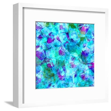 Triangles Abstract Pattern-Square 21-Grab My Art-Framed Art Print