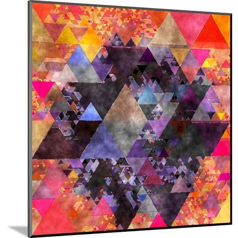 Triangles Abstract Pattern - Square 6-Grab My Art-Mounted Art Print