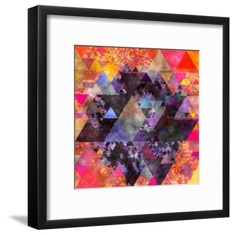 Triangles Abstract Pattern - Square 6-Grab My Art-Framed Art Print