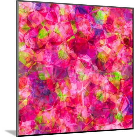 Triangles Abstract Pattern - Square 22-Grab My Art-Mounted Art Print