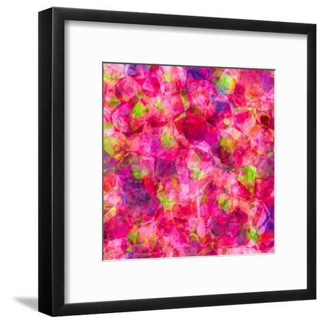 Triangles Abstract Pattern - Square 22-Grab My Art-Framed Art Print