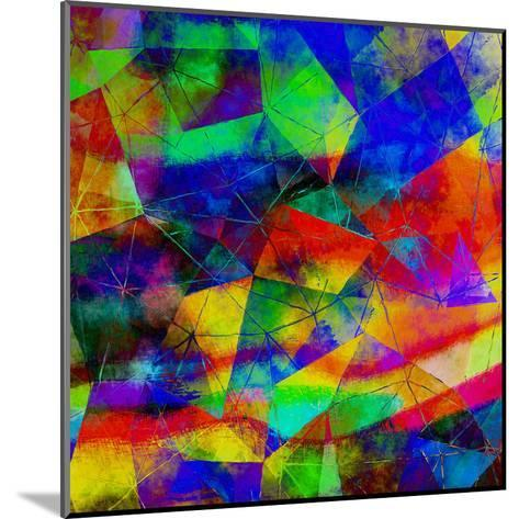 Triangles Abstract Pattern - Square 9-Grab My Art-Mounted Art Print