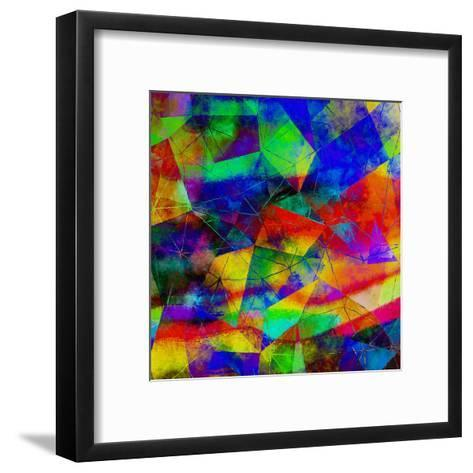 Triangles Abstract Pattern - Square 9-Grab My Art-Framed Art Print