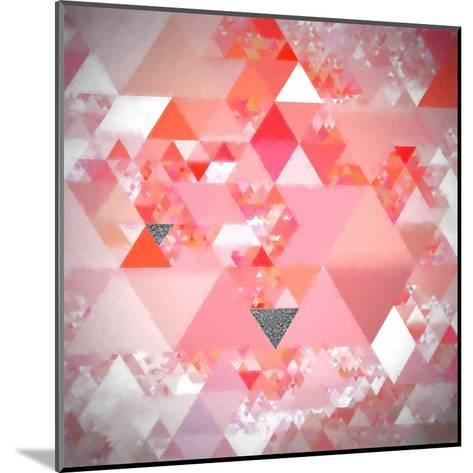 Triangles Abstract Pattern - Square 24-Grab My Art-Mounted Art Print