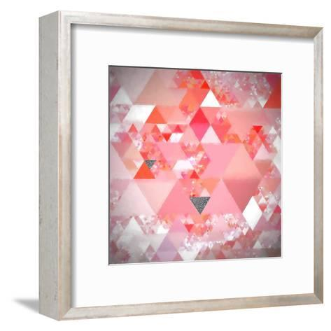 Triangles Abstract Pattern - Square 24-Grab My Art-Framed Art Print