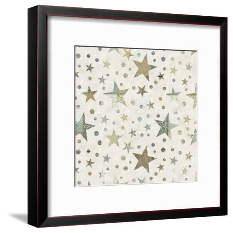 Patchwork Star Pattern - Square-Lebens Art-Framed Art Print