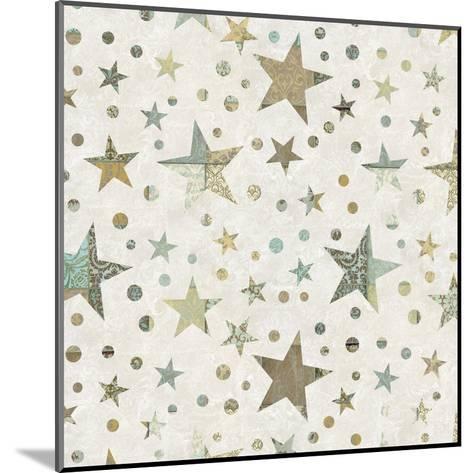 Patchwork Star Pattern - Square-Lebens Art-Mounted Art Print