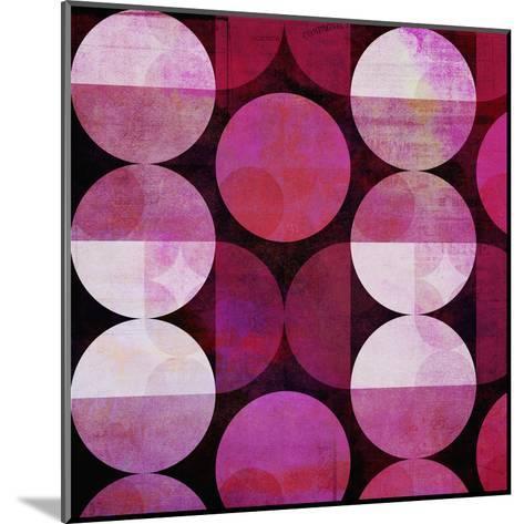 Red Circle Pattern - Square-Lebens Art-Mounted Art Print