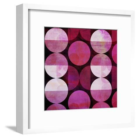 Red Circle Pattern - Square-Lebens Art-Framed Art Print