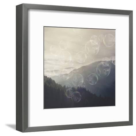 Forrest Mystic Bubble - Square-Lebens Art-Framed Art Print