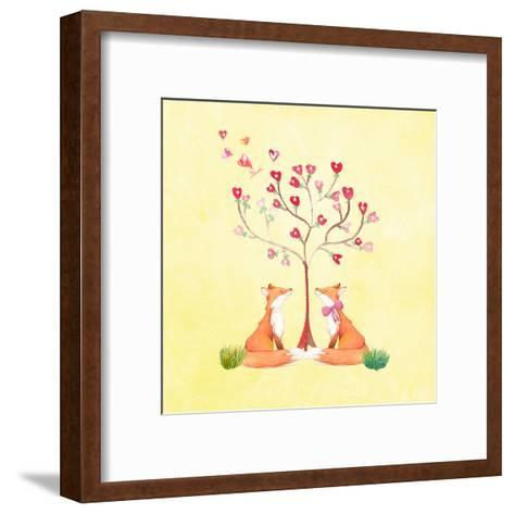 Love Foxes Animal Wild Mammal - Square 2-Grab My Art-Framed Art Print