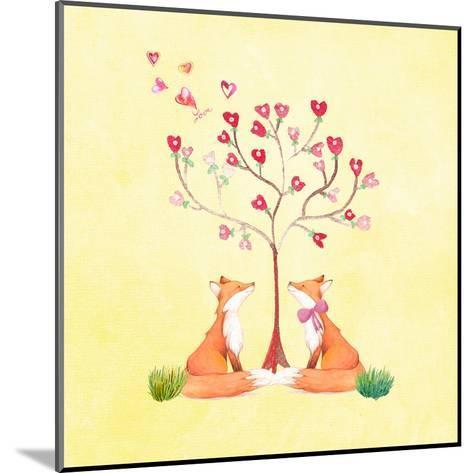 Love Foxes Animal Wild Mammal - Square 2-Grab My Art-Mounted Art Print