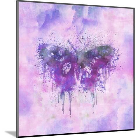 Butterfly - Square 3-Lebens Art-Mounted Art Print
