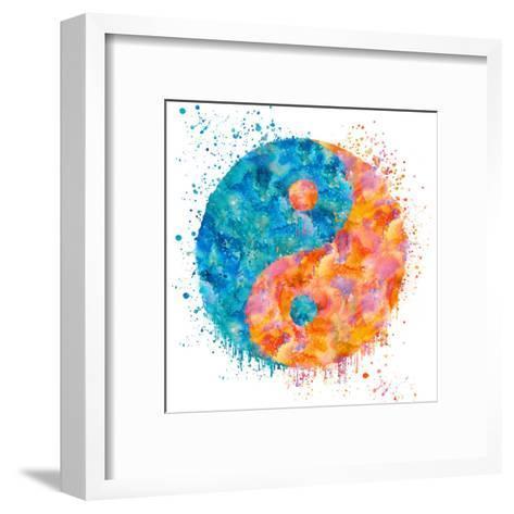 Yin Yang - Square-Lebens Art-Framed Art Print