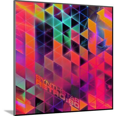 Synthstar Retro80-Spires-Mounted Art Print