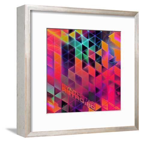 Synthstar Retro80-Spires-Framed Art Print