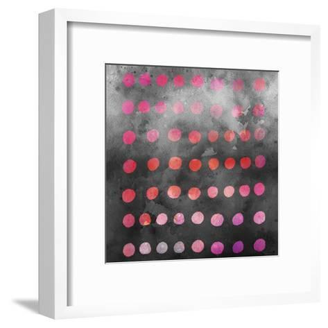 Watercolor Dots - Square-Lebens Art-Framed Art Print