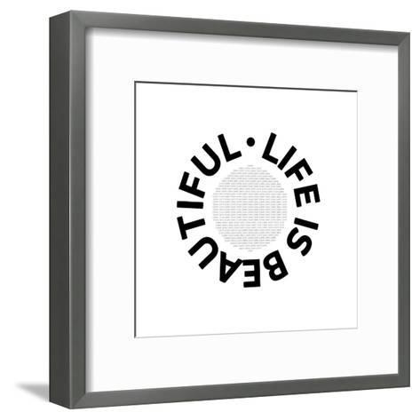 Life Is Beautiful Carpe Diem-Melanie Viola-Framed Art Print