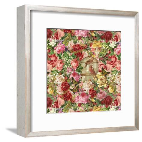 Vintage Bird Cage - Square-Lebens Art-Framed Art Print