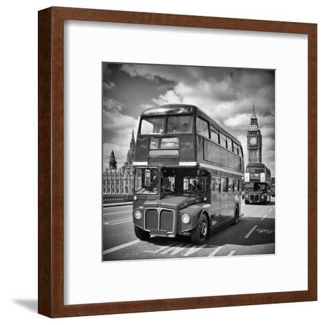 London Classical Streetscene-Melanie Viola-Framed Art Print