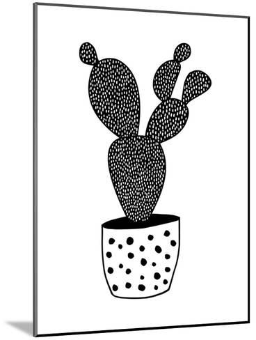 Cactus-Nanamia Design-Mounted Art Print