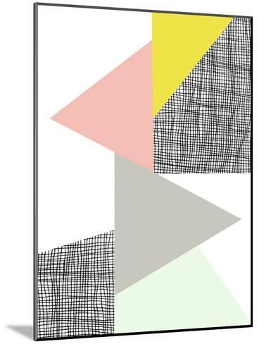 Triangle-Nanamia Design-Mounted Art Print
