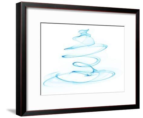 Blue Ink No4-Melanie Viola-Framed Art Print