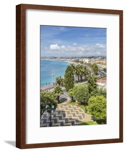 Cote Dazur Nice Promenade Des Anglais-Melanie Viola-Framed Art Print