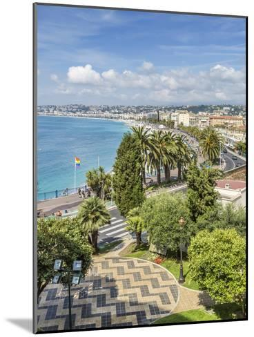 Cote Dazur Nice Promenade Des Anglais-Melanie Viola-Mounted Art Print