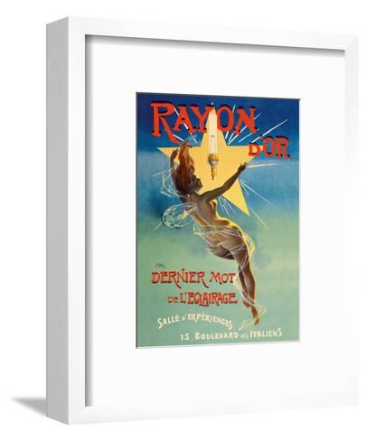 Rayon d'or Gaslight Fixtures - The Last Word in Lighting - Nude Winged Goddess-Jean de Paleologue-Framed Art Print