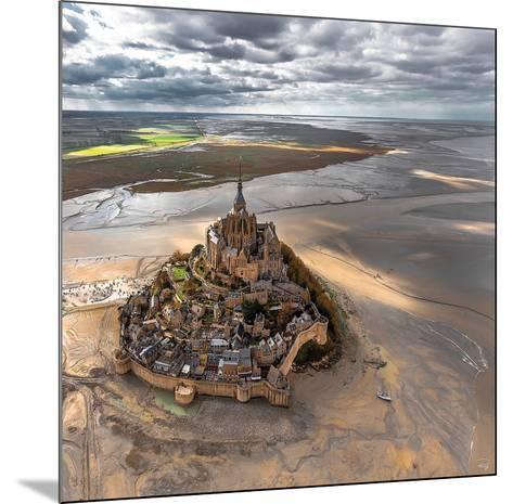 Mont-Saint-Michel-Philip Plisson-Mounted Art Print