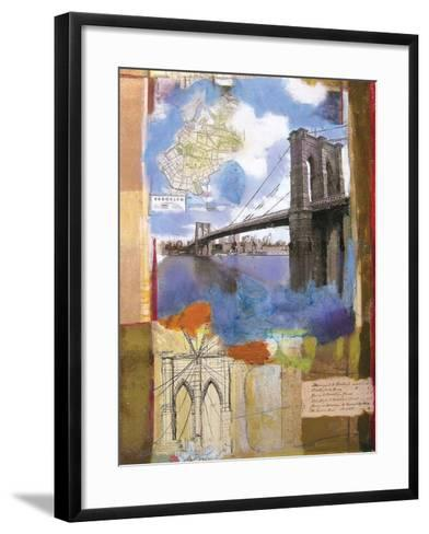 Brooklyn Bridge II-Andrew Sullivan-Framed Art Print