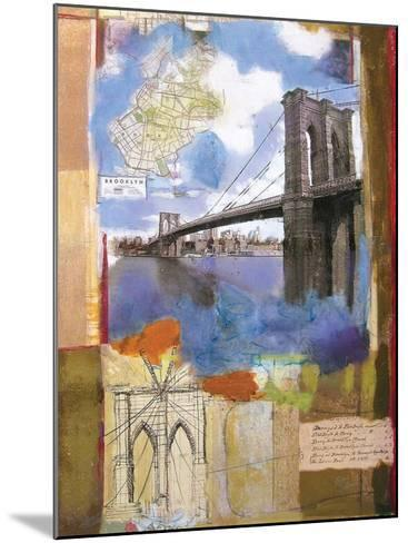 Brooklyn Bridge II-Andrew Sullivan-Mounted Art Print