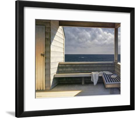 Sea Bench-Daniel Pollera-Framed Art Print