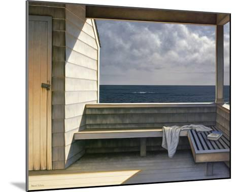 Sea Bench-Daniel Pollera-Mounted Art Print