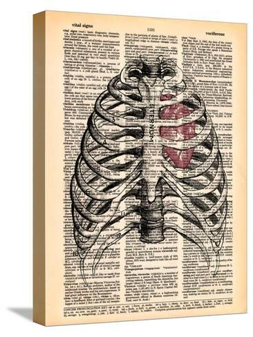 Sternum & Heart- Book Dictionary Art-Stretched Canvas Print