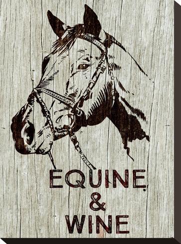 Equine & Wine-Brandi Fitzgerald-Stretched Canvas Print