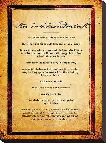 Ten Commandments-Dallas Drotz-Stretched Canvas Print