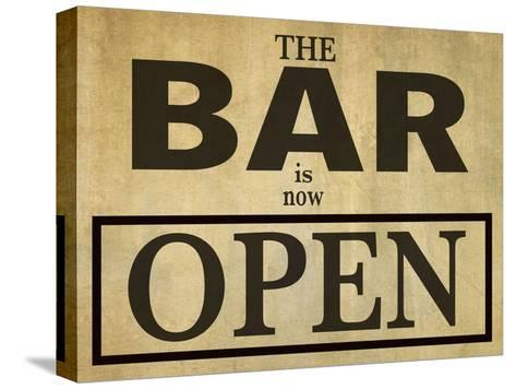 Bar Is Open-Grafittee Studios-Stretched Canvas Print